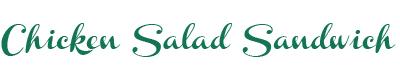 Chicken Salad Title