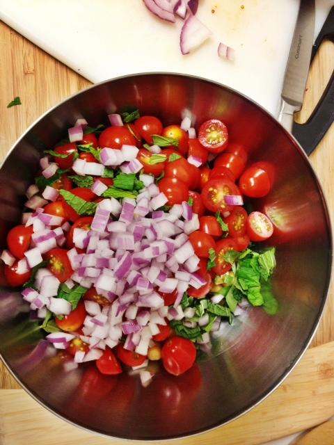 dry ingredients summer pasta salad