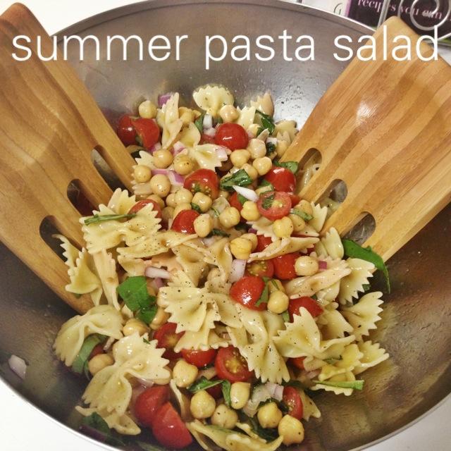 summer pasta salad complete