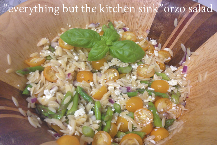 everything but the kitchen sink salad quot everything but the kitchen sink quot orzo salad dc in 9652
