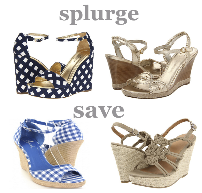 Splurge or Save Wedges