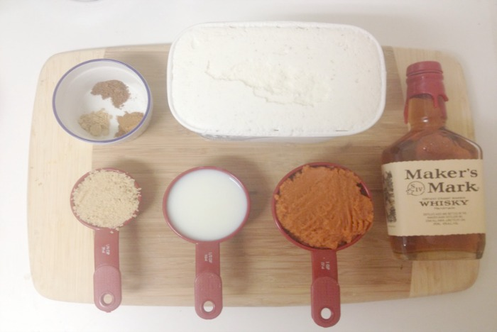Bourbon Pumpkin Pie Shake Ingredients