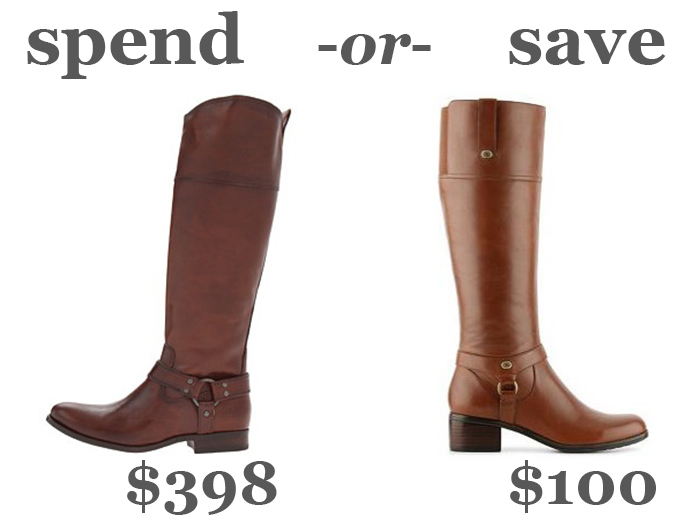 spend or save: riding boots | DC Girl in Pearls
