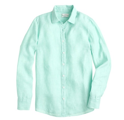 J.Crew Perfect Shirt in Crosshatch Linen