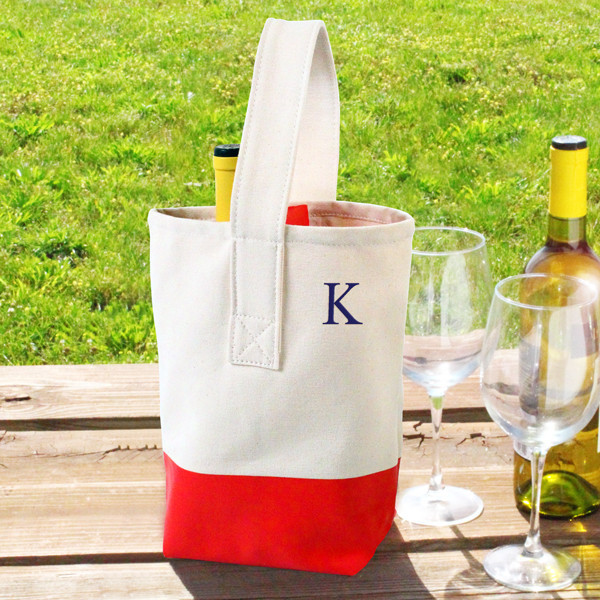 Monogram Monday: Color Dipped Wine Tote