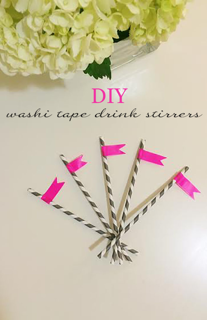 DC Girl in Pearls Life + Style Blog - DIY Washi Tape Drink Stirrers