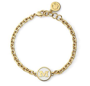C. Wonder Enamel Initial Delicate Bracelet - DC Girl In Pearls Life + Style Blog