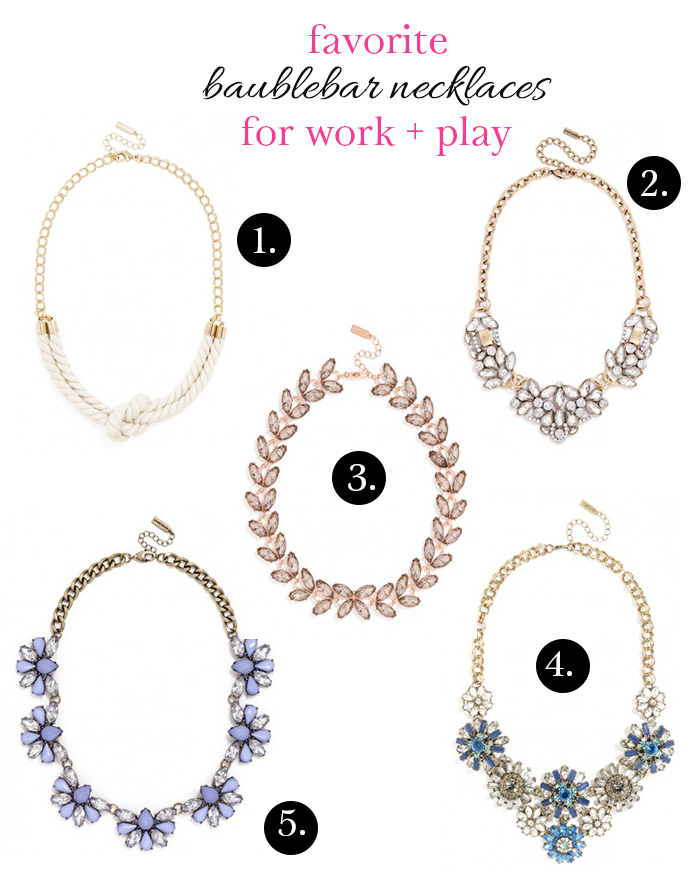 DC Girl in Pearls - Favorite Baublebar Necklaces for Work + Weekend