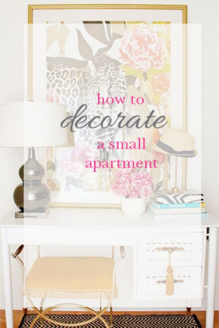How To Decorate A Small Apartment - DC Girl in Pearls