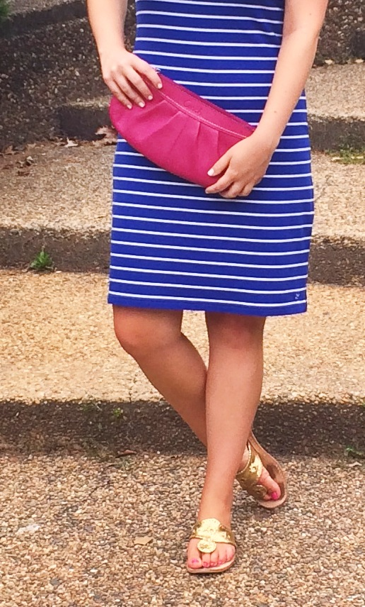DC Girl in Pearls - Vineyard Vines Stripe Bow Dress