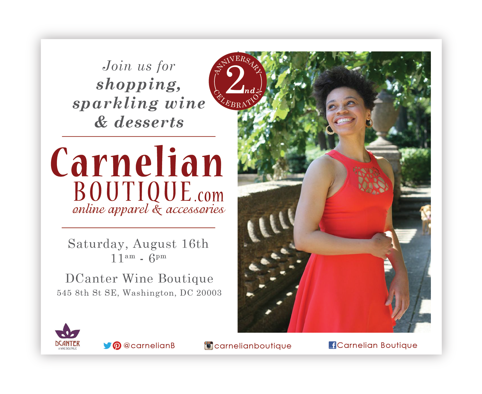 Carnelian Boutique Birthday Party