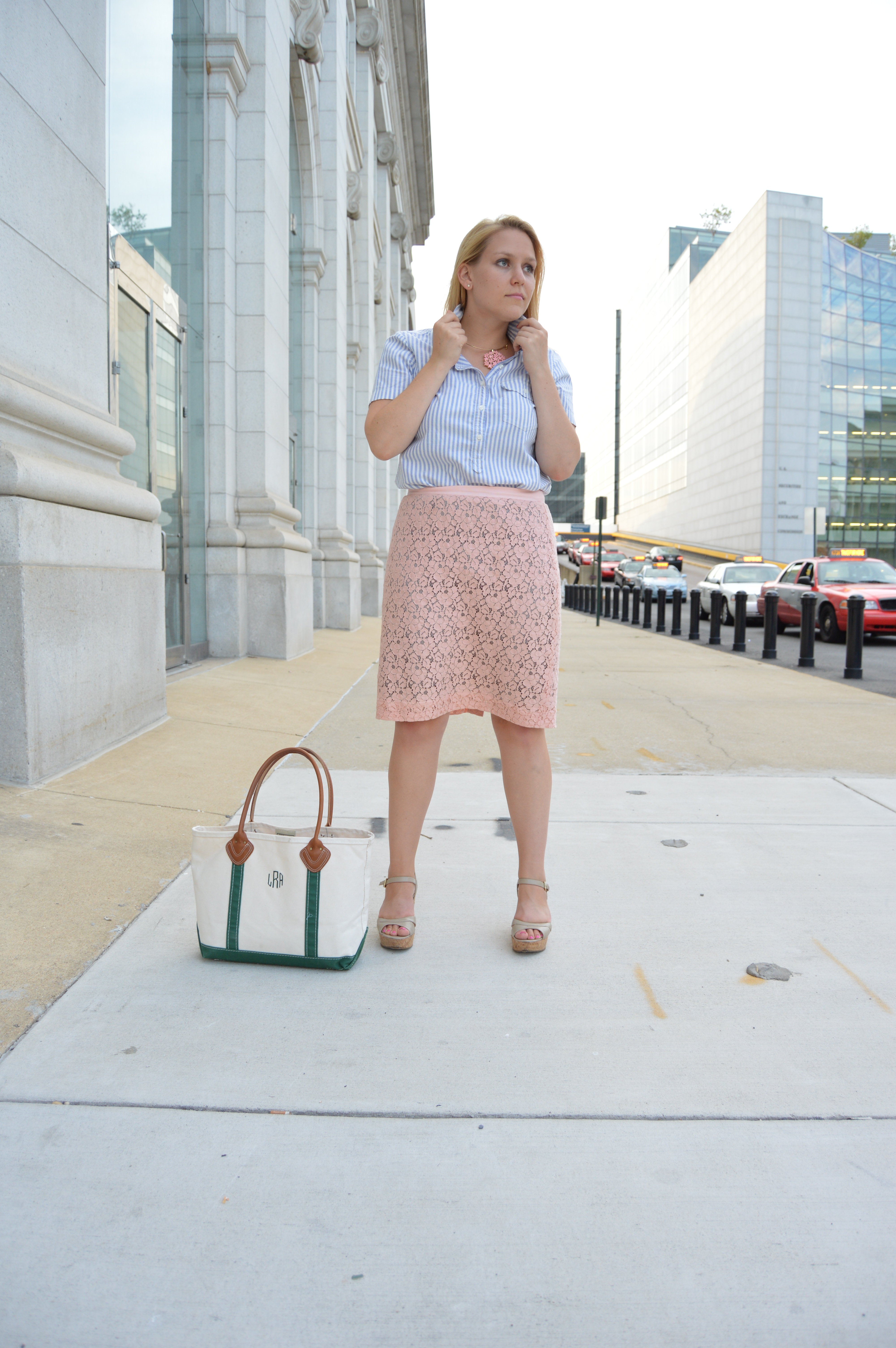 How To Mix Prints For Work - DC Girl in Pearls