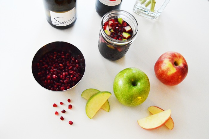 Apple Pomegranate Sangria - DC Girl in Pearls