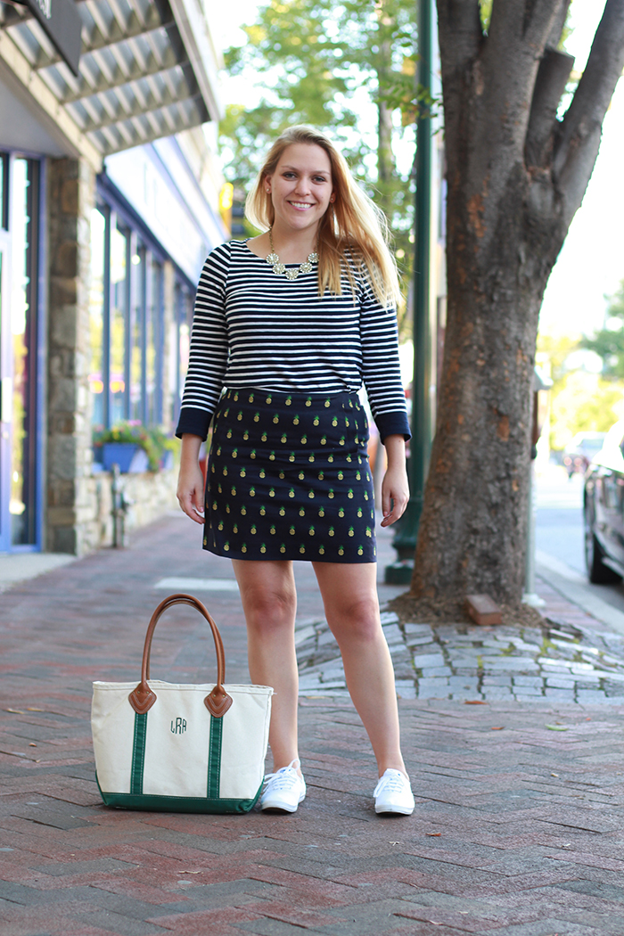 Stripes + Pineapples - DC Girl in Pearls