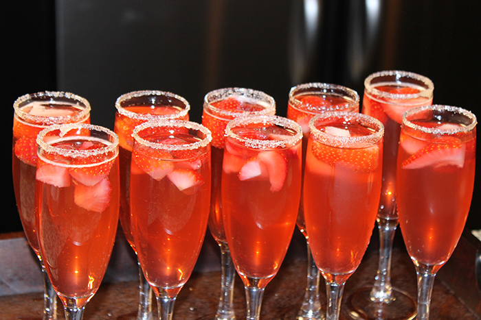 Sauza Tequila Strawberry Sparklers - DC Girl in Pearls