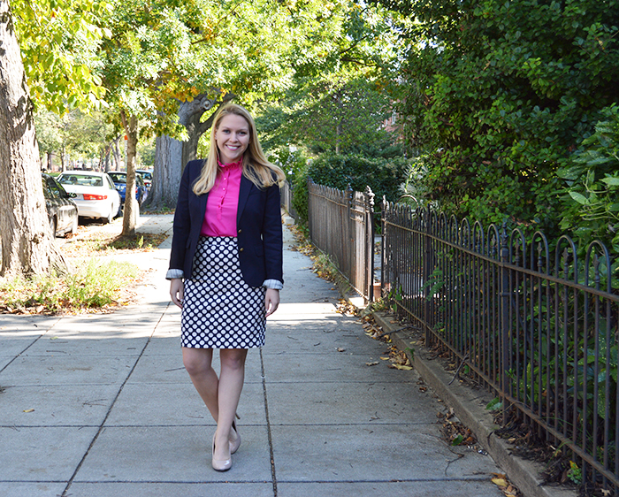 Professionally Polka Dotted ft. J.Crew Factory - DC Girl in Pearls