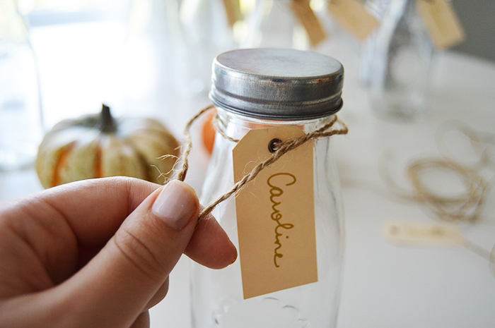 Rustic Drink Name Tag DIY - DC Girl in Pearls