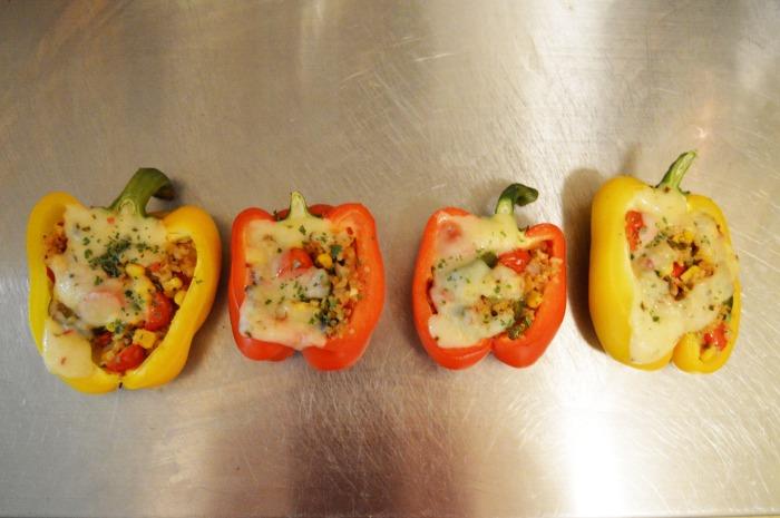 Southwest Stuffed Peppers + Mango Lime Margarita
