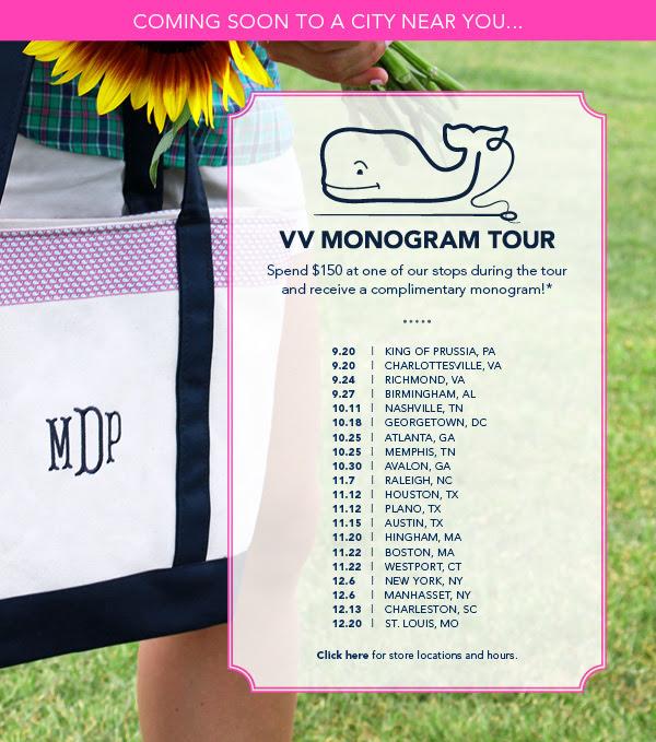 Vineyard Vines Monogram Tour - DC Girl in Pearls