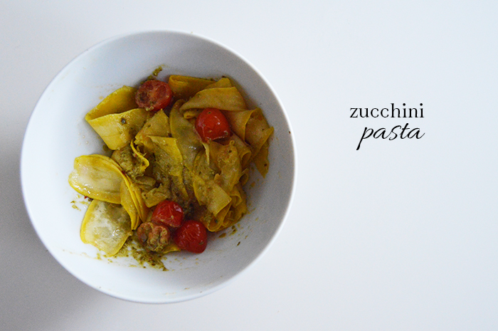 ONE POT Low Carb Zucchini Pasta - DC Girl in Pearls