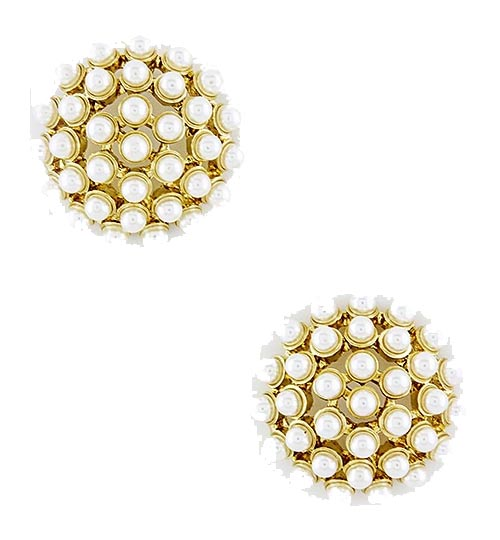 Haley Pearl Dome Studs - The Shopping Bag