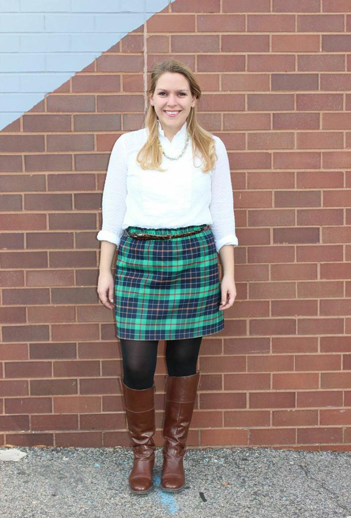 Thanksgiving Day Outfit ft. J. Crew + Enzo Riding Boots - DC Girl in Pearls