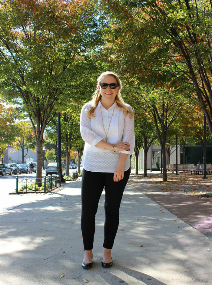 DC Girl in Pearls - Tuxedo Shirt + Tassel Necklace ft. J.Crew, Loren Hope + LOFT