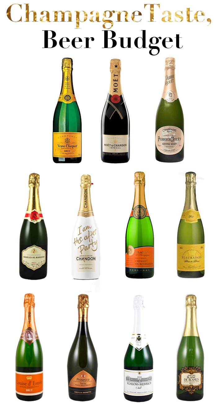 The Champagne Guide for the girl on a budget - lots of great bubbly for under $20! - DC Girl in Pearls