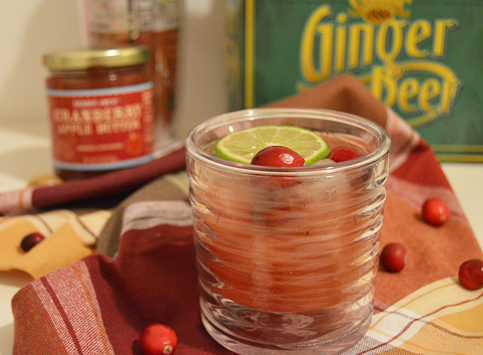 Cranberry Ginger Bourbon Fizz, a holiday cocktail ready in seconds - DC Girl in Pearls