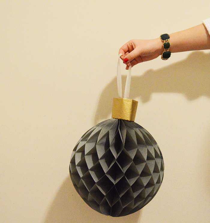 DIY Giant Honeycomb Ornaments with IKEA Visionar Decor- DC Girl in Pearls