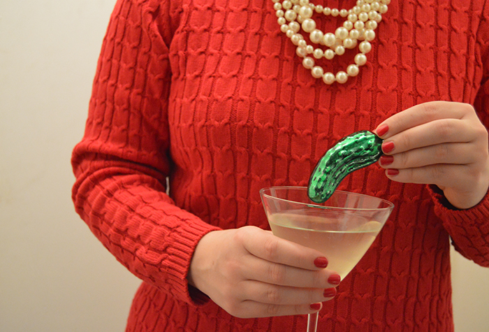 Dirty Pickle Martini with Tervis Cocktail Shaker - DC Girl in Pearls