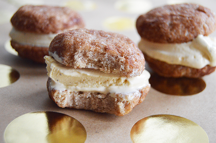Egg Nog Ice Cream Snickerdoodle Sandwiches - DC Girl in Pearls