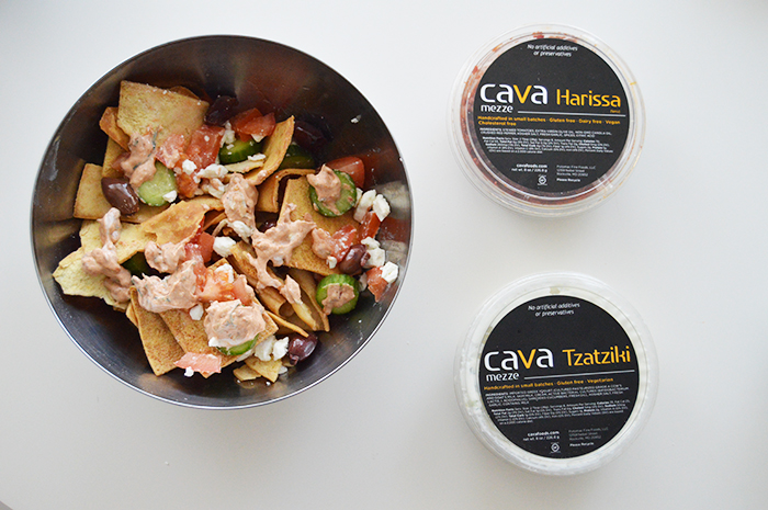 No Bake Greek Nachos with Cava Foods ready in minutes for guests or a late night hunger pang - DC Girl in Pearls