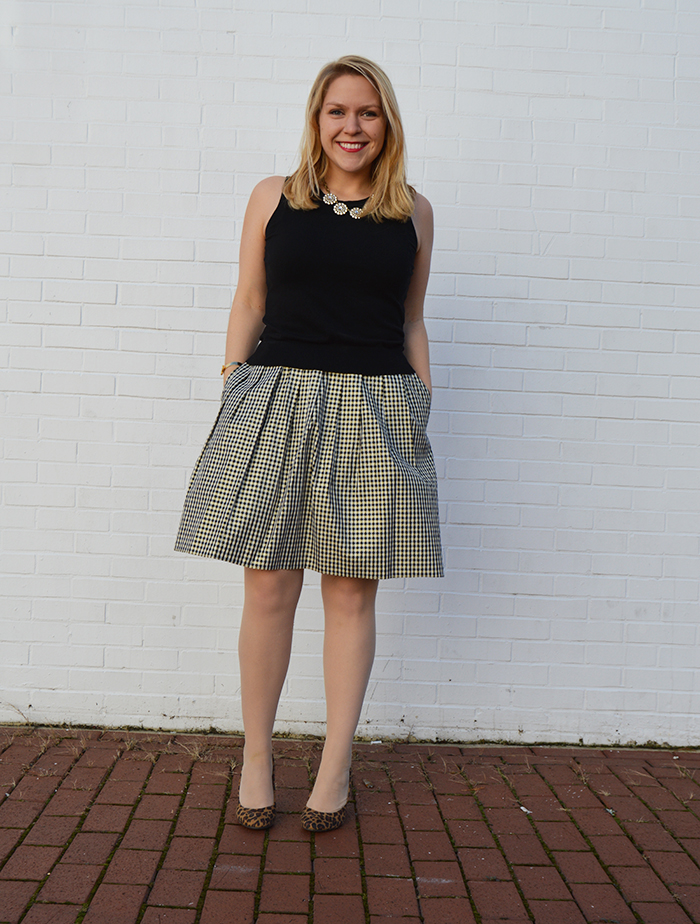 A festive holiday glam outfit with Talbots and Target Style - DC Girl in Pearls