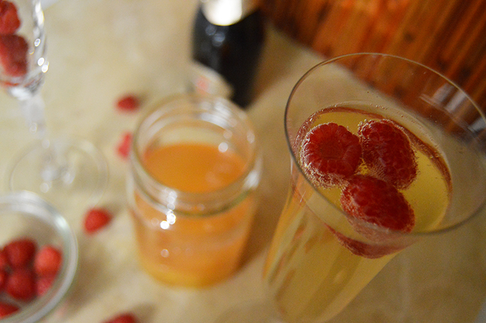 DIY Bellini Bar for Brunch at Home! Prep the syrups ahead of time for stress-free hosting- DC Girl in Pearls