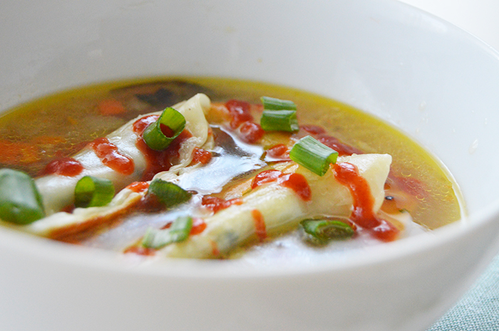 Potsticker Soup ready in minutes + loaded with vegetables - DC Girl in Pearls
