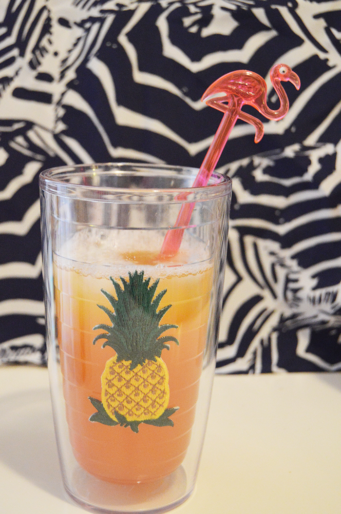 Pineapple Strawberry Tequila Cooler - DC Girl in Pearls