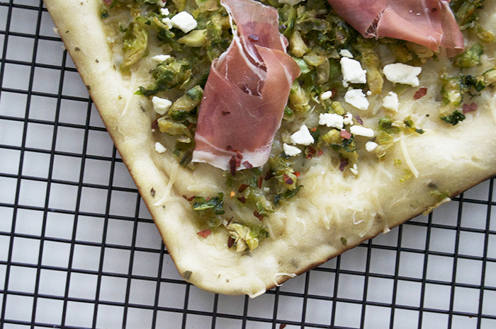 Brussels Sprouts + Prosciutto Pizza - DC Girl in Pearls