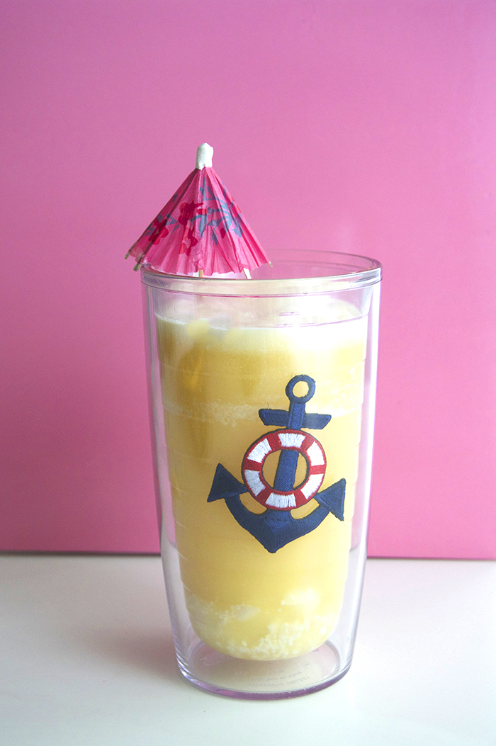 Pusser's Painkillers: 4 parts pineapple juice, 1 part coconut rum, 1 part orange juice + 1 part coconut cream | dcgirlinpearls.com