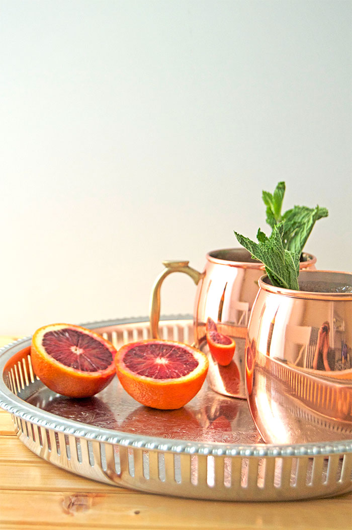 Blood Orange Mint Moscow Mules - DC Girl in Pearls