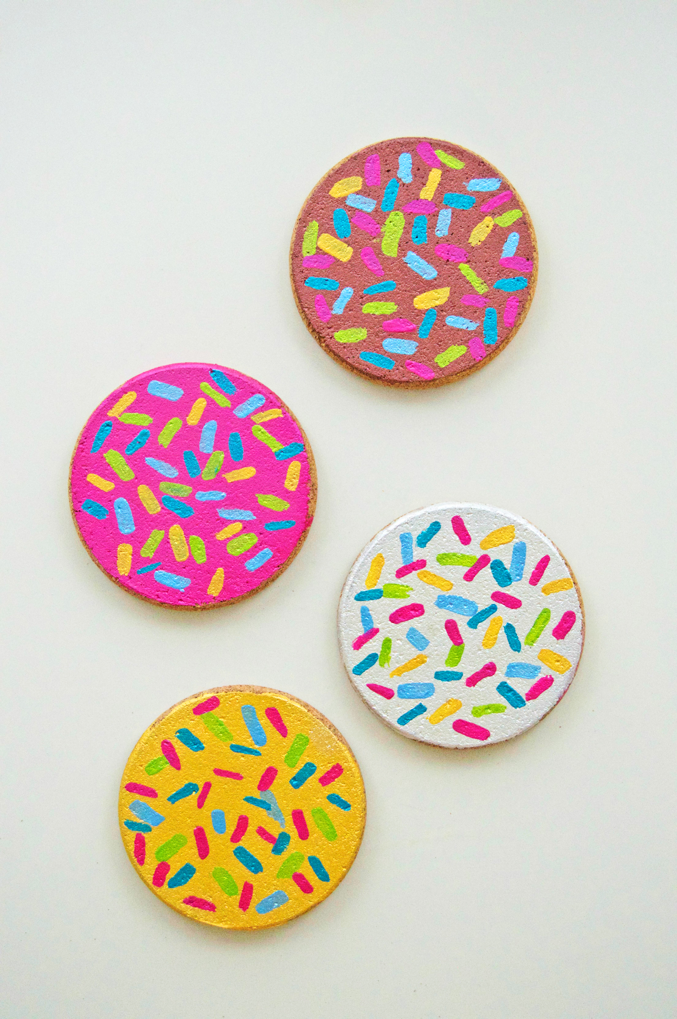 Diy Donut Cork Coasters The Monogrammed Life
