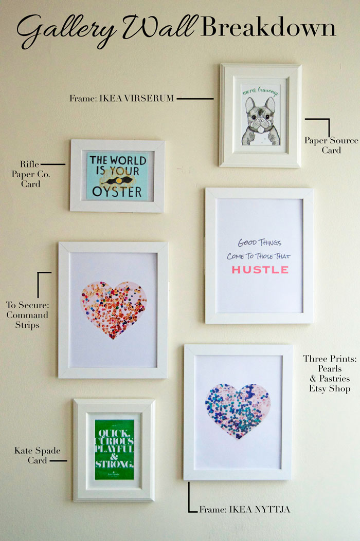 Gallery Wall on a Budget |dcgirlinpearls.com