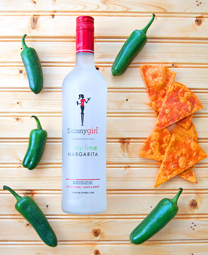 Skinnygirl Spicy Lime Margarita with homemade tortilla chips from Trader Joe's Habanero Lime Tortillas - dcgirlinpearls.com