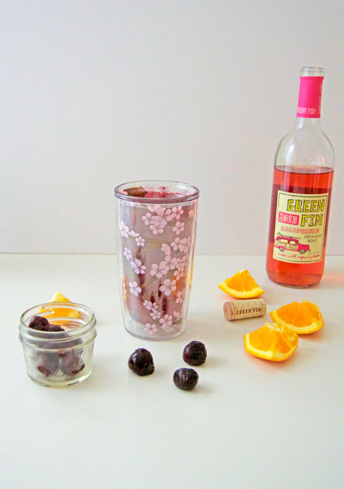 Cherry Citrus Sangria with Rosé for Spring | dcgirlinpearls.com