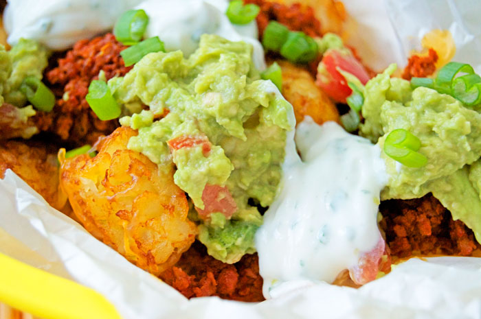Loaded Tater Tot Nachos | dcgirlinpearls.com