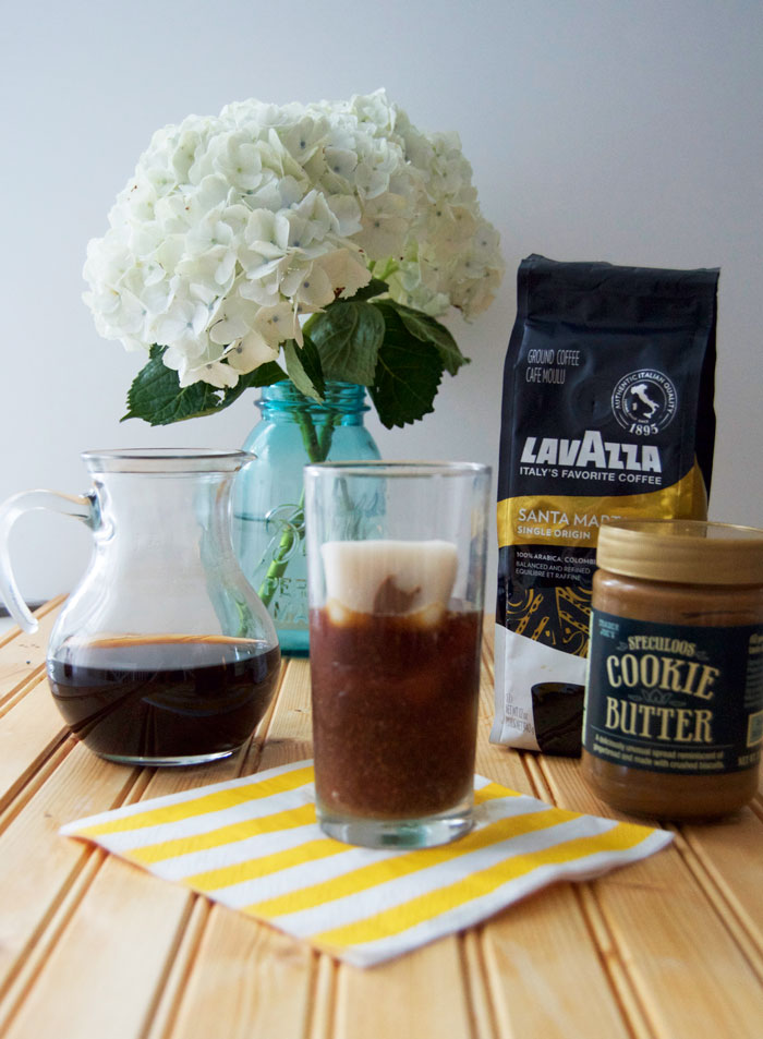 This iced coffee recipe will knock your socks off with just two words: Cookie Butter | dcgirlinpearls.com