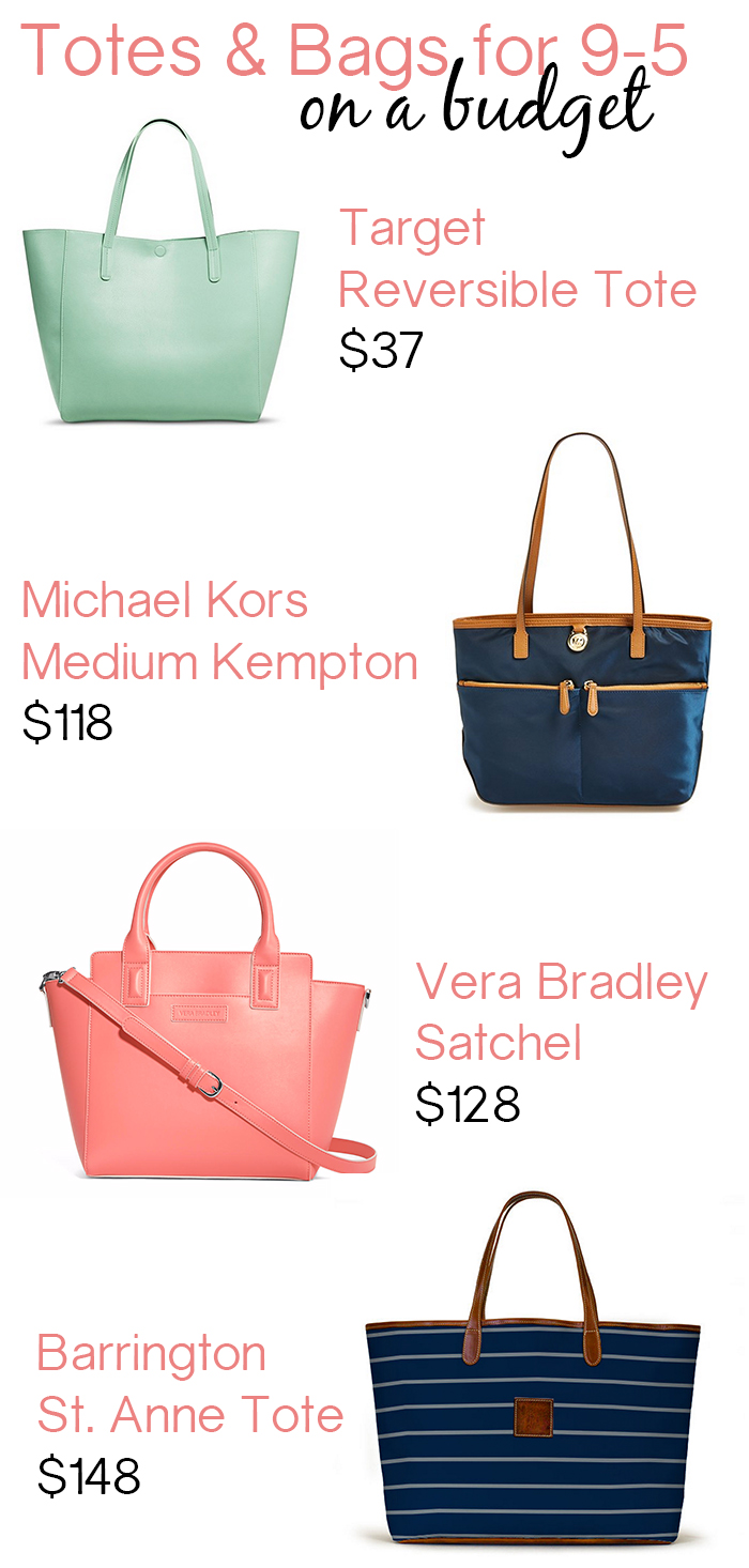 Totes + Bags for Work on Budget
