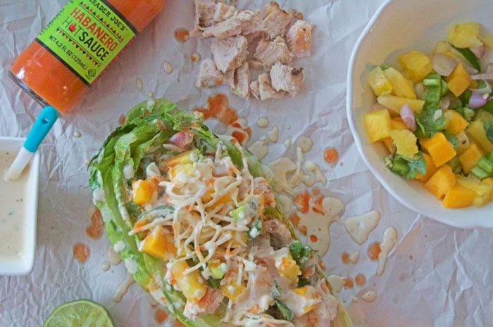 Grilled Pineapple Mango Chicken Caesar Salad | dcgirlinpearls.com