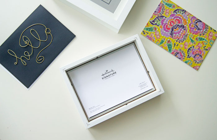 Decor on a Budget: Shadow Box Wall Art with IKEA RIBBA Frames + Hallmark Signature | dcgirlinpearls.com