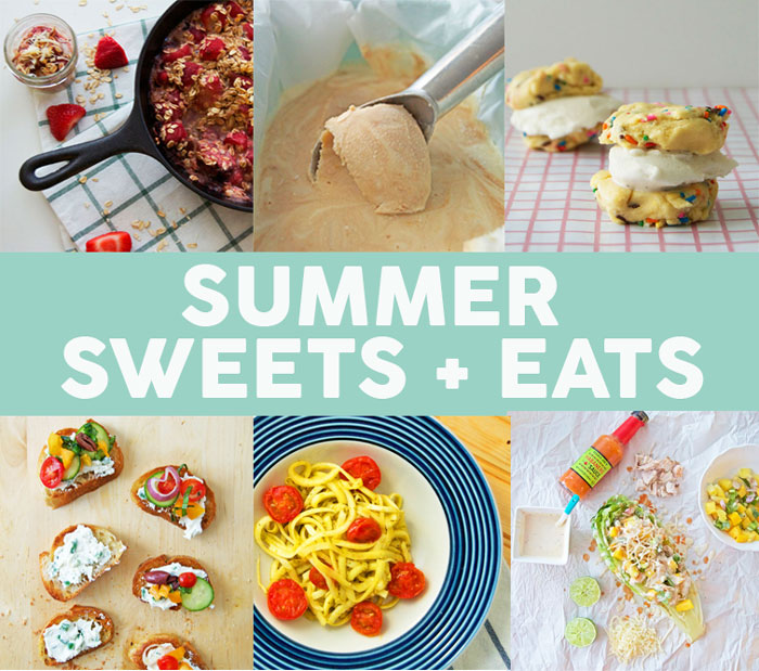 A roundup of my favorite summer sweets + eats recipes | dcgirlinpearls.com